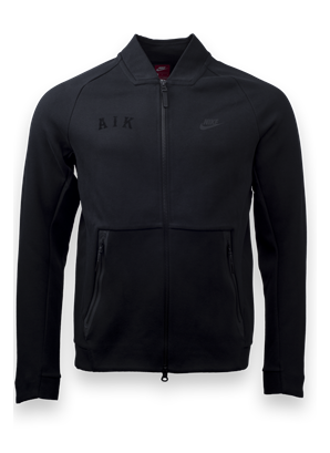 Nike tech-fleece varsity jacket svart