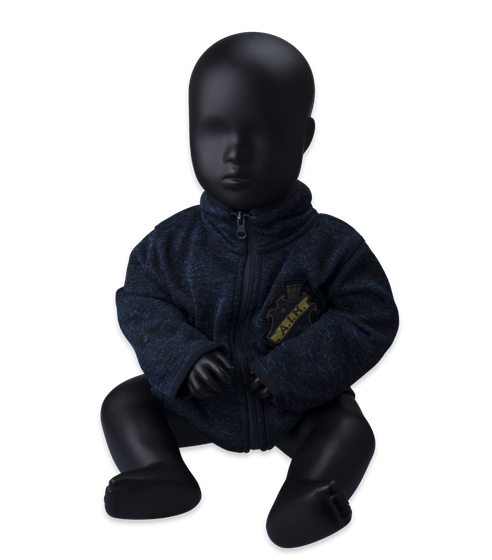 Navy stickad fleece baby